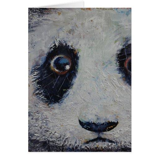Sad Panda Greeting Card