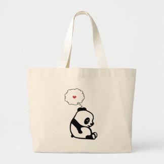 Sad Panda Large Tote Bag