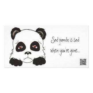 Sad Panda Photo Card