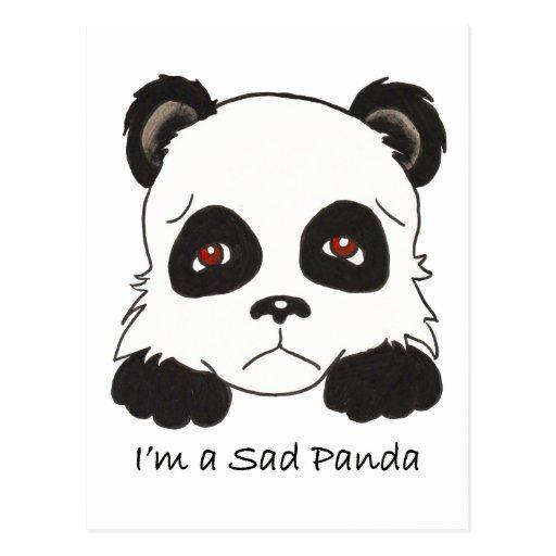 Sad Panda Postcards