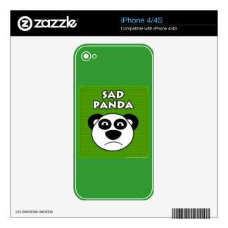 Sad Panda iPhone 4S Decal