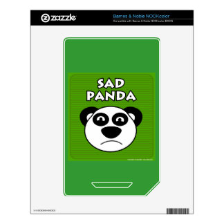 Sad Panda Decals For The NOOK Color