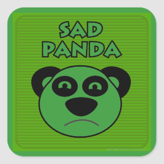 Sad Panda Square Sticker
