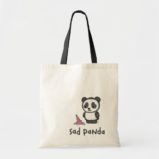 Sad Panda tote bag