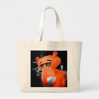 Sad panther large tote bag