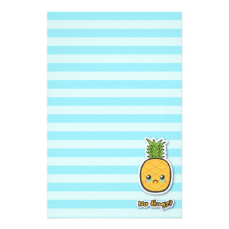 Sad Pineapple that gets no hugs Stationery Paper