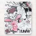 Sad Pink Lillte Bunny mousepad