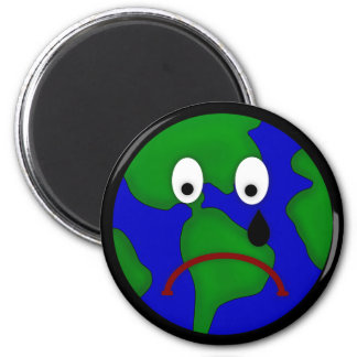 Sad Planet Earth Design Magnet