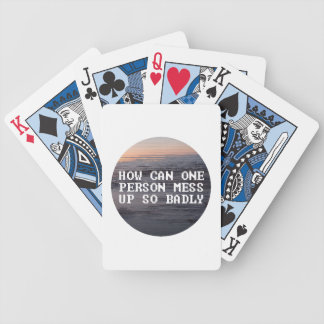 Sad Playing Cards for if You Messed Up