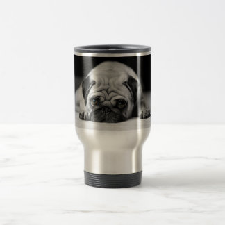 Sad Pug 15 Oz Stainless Steel Travel Mug