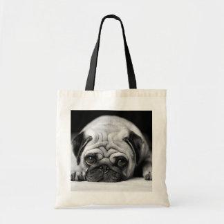 Sad Pug Budget Tote Bag