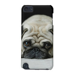 Sad pug - dog lying down - dog look - cute puppies iPod touch 5G cover
