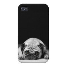 Sad Pug Iphone 4/4s Cases at Zazzle