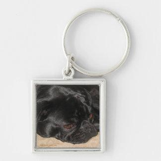 Sad Pug Keychain