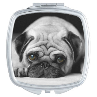 Sad Pug Travel Mirror