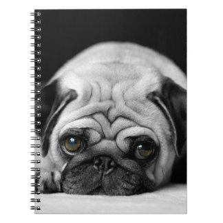Sad Pug Spiral Note Books