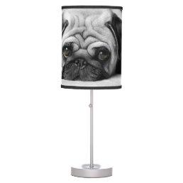 Sad Pug Table Lamp