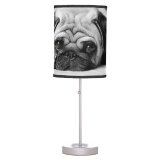 Sad Pug Table Lamp