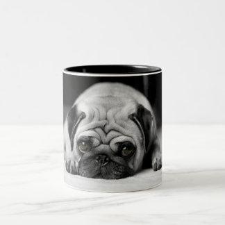 Sad Pug Two-Tone Coffee Mug
