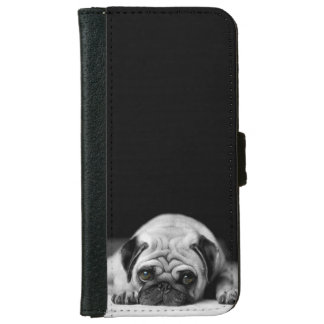 Sad Pug Wallet Phone Case For iPhone 6/6s