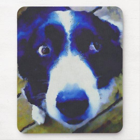 Sad Puppy Dog Eyes Painted Style Mouse Pad
