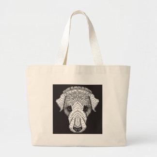 sad puppy large tote bag