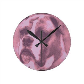 Sad Puppy Round Clock