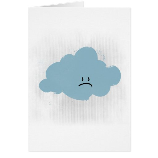 Sad Rain Cloud Cards
