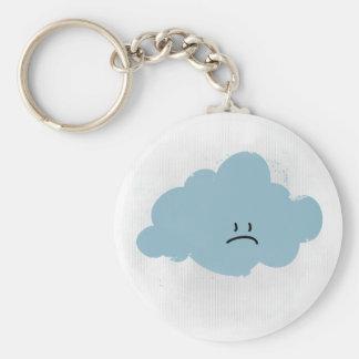 Sad Rain Cloud Key Chain
