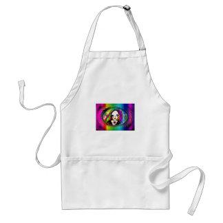 sad rainbow girl adult apron