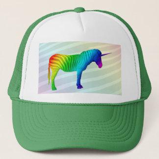 Sad Rainbow Zebra Unicorn Hat