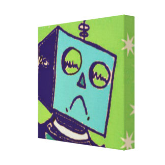 Sad Robot Wrapped Canvas Canvas Prints