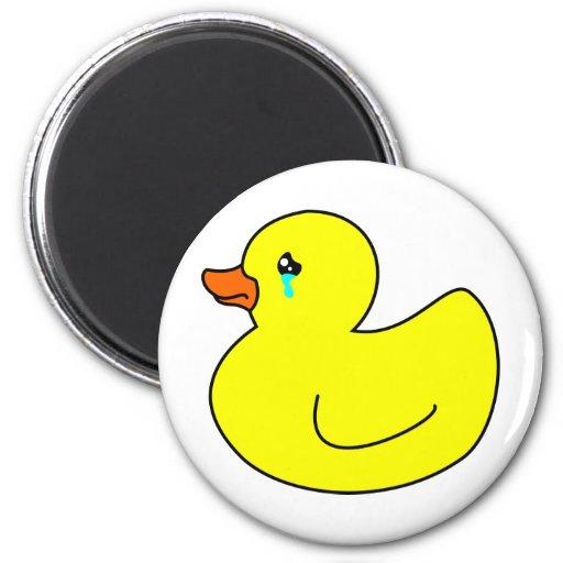 Sad Rubber Duck 2 Inch Round Magnet