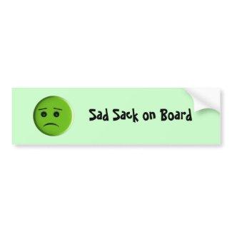 Sad Sack on Board Bumper Sticker