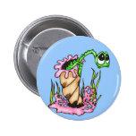 Sad Sea Creature Pinback Buttons