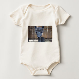 Sad Shaved Alpaca Baby Bodysuit