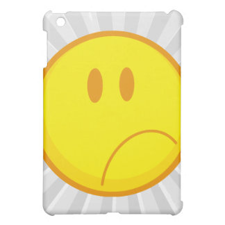 sad silly frowning sad smiley face case for the iPad mini