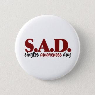 SAD Singles Awareness Day Button