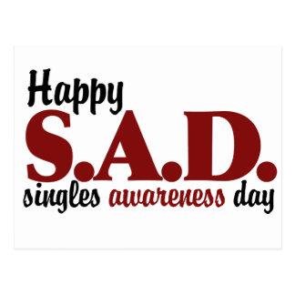 SAD Singles Awareness Day Post Cards