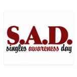 SAD Singles Awareness Day Postcards