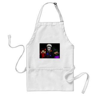 Sad skeleton adult apron