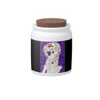 Sad Skeleton Candy Jar