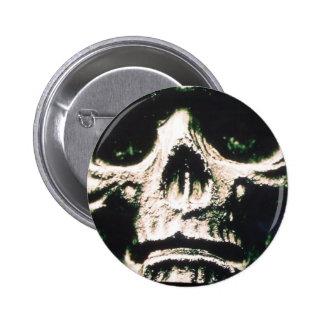 Sad Skull Pinback Button