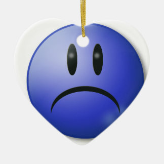 Sad smile Face Ceramic Ornament