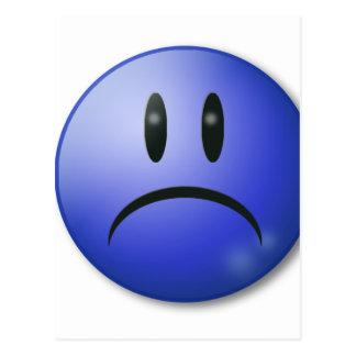 Sad smile Face Postcard