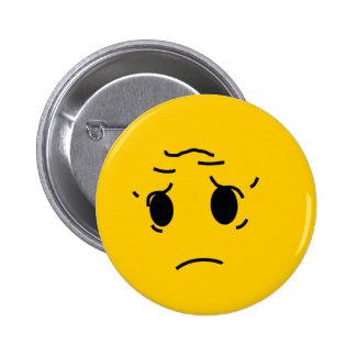 sad smiley 2 inch round button