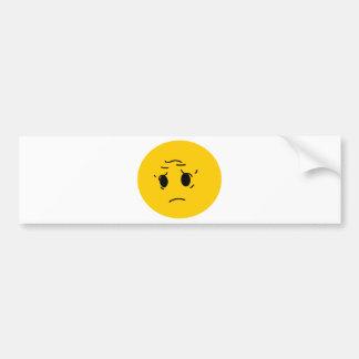 sad smiley bumper stickers