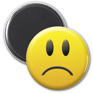 Sad Smiley Face 2 Inch Round Magnet