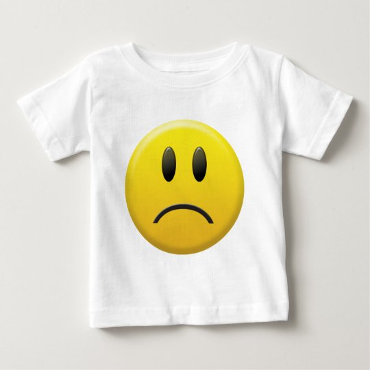 Sad Smiley Face Baby T-Shirt