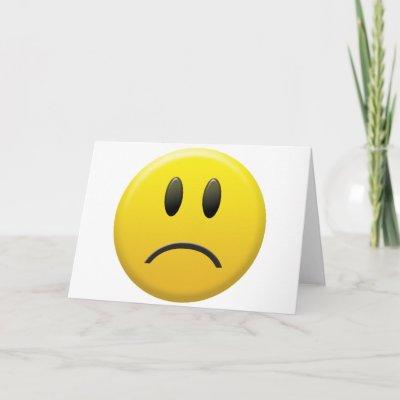 happy face sad face. Sad Smiley Face Card by
